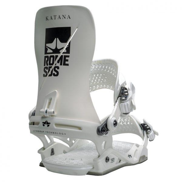 Snowboardbindung in weiß mit perfekter Anpassbarkeit an die Ansprüche des Fahrers - ROME Katana