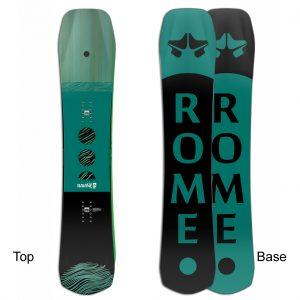 Grünes Frauensnowboard von ROME SDS mit directional Shape boarders-project